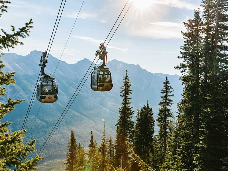 Grand Canadian Rockies Train Circle Tour | Banff Gondola
