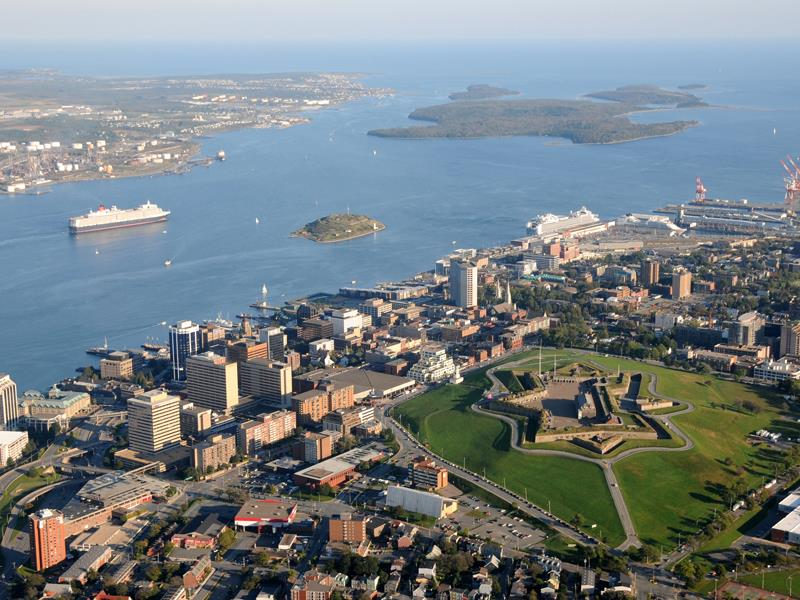 Atlantic Maritimes Explorer by Rail | View of Halifax