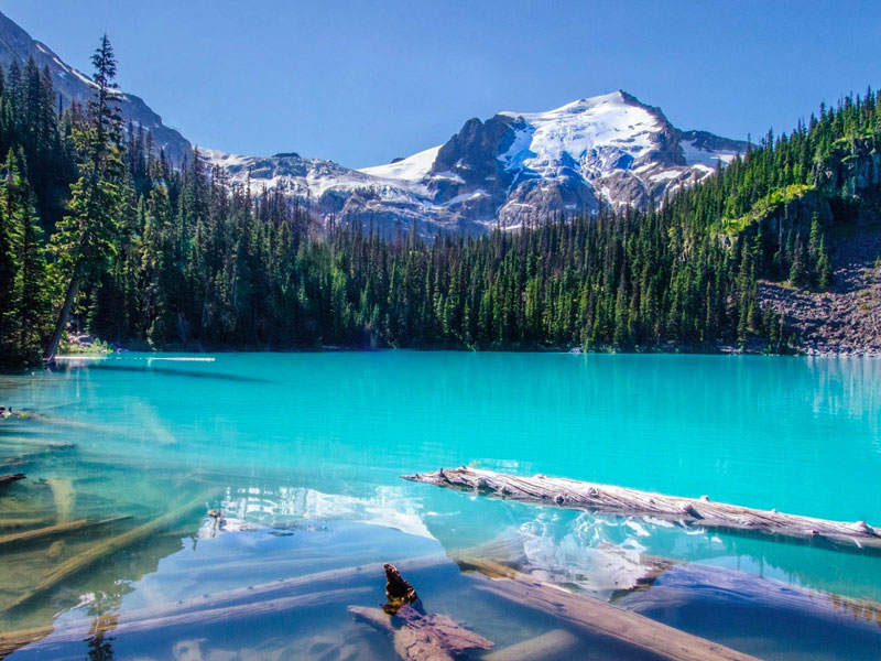 Discover Whistler and the Canadian Rockies Road Trip |  Joffre Lake between Whistler& Sun Peaks