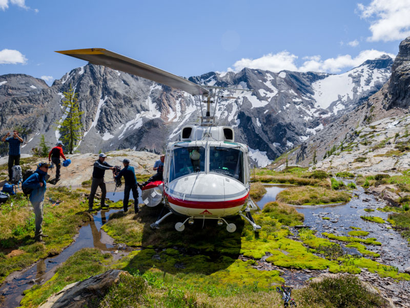 Journey through the Clouds Rail & Heli Adventure | CMH Bugaboo Lodge Heli Adventure