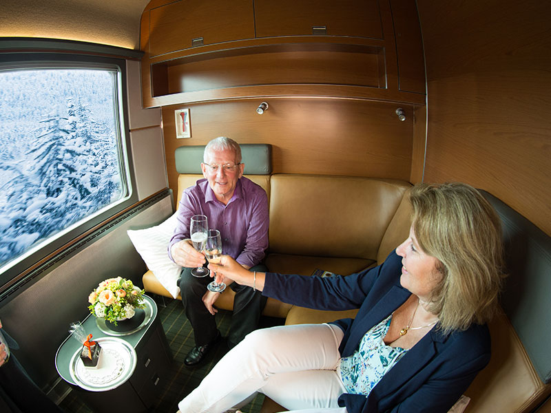 Luxury Snow Train to the Canadian Rockies | VIA Rail Prestige Class