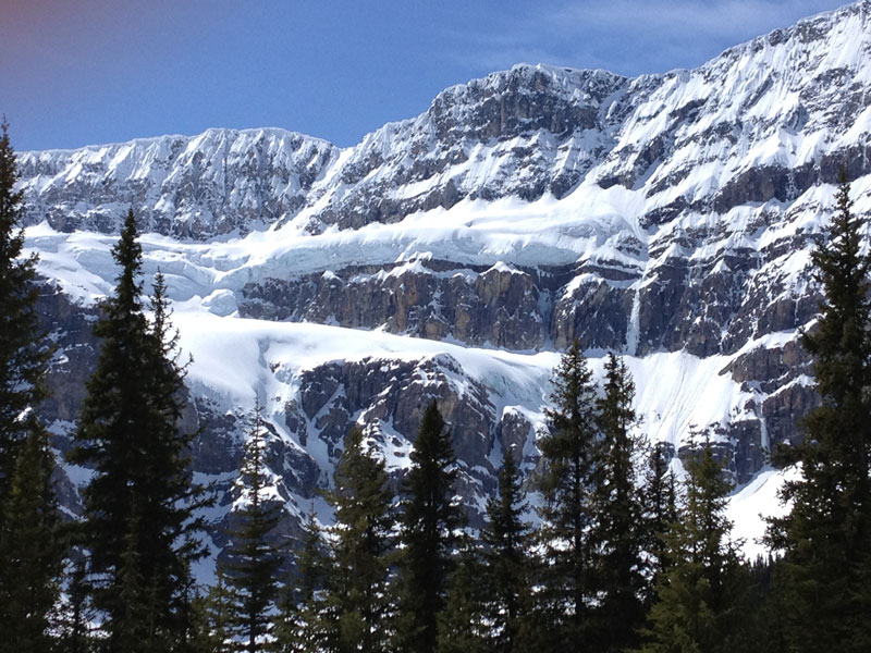 Luxury Snow Train to the Canadian Rockies | Crowfoot Glacier between Jasper and Lake Louise