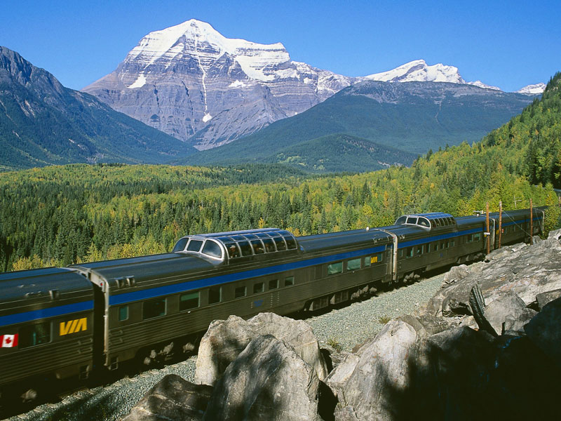 Rail & Drive through the Canadian Rockies | VIA Rail Mt Robson