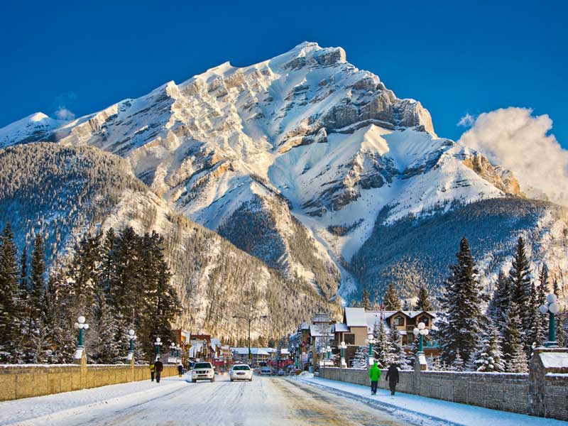 Winter Snow Train to the Canadian Rockies | Banff Avenue Banff