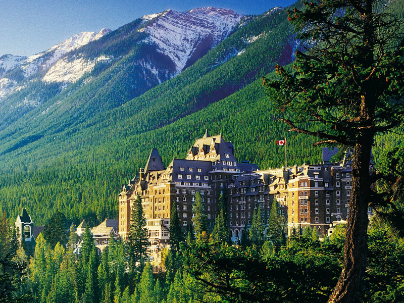 Alaska Cruise with Canadian Rockies Train Tour | Fairmont Banff Springs in the Canadian Rockies
