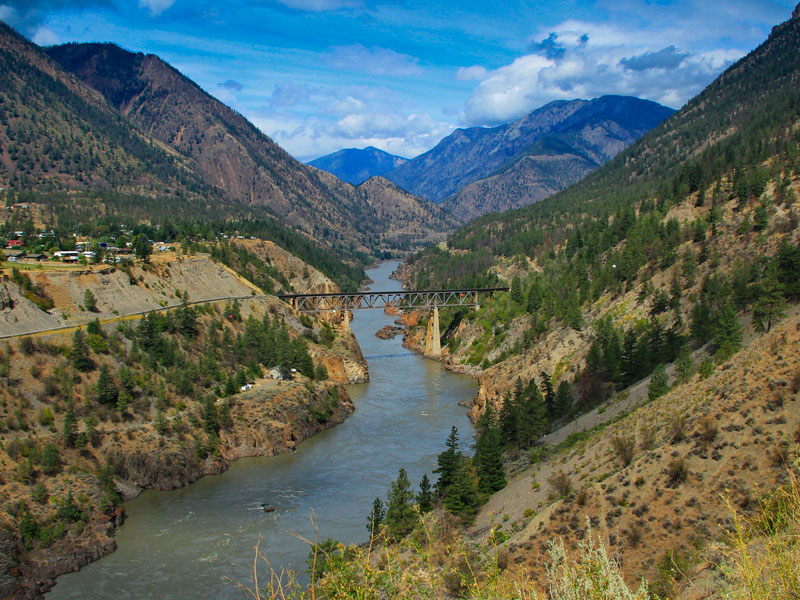 Western Canada Family Road Trip | Fraser River between Whistler and Sun Peaks