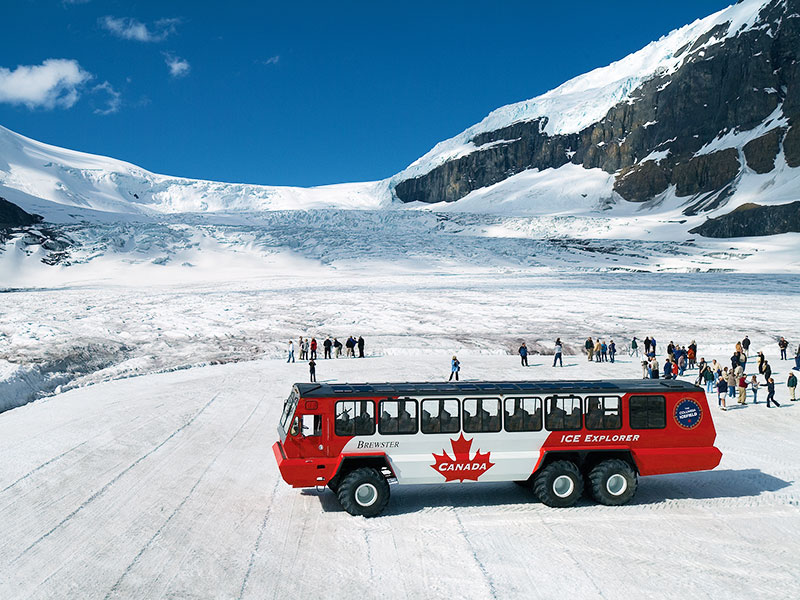 Western Canada Family Road Trip | Ice Explorer Ride onto the Athabasca Glacier