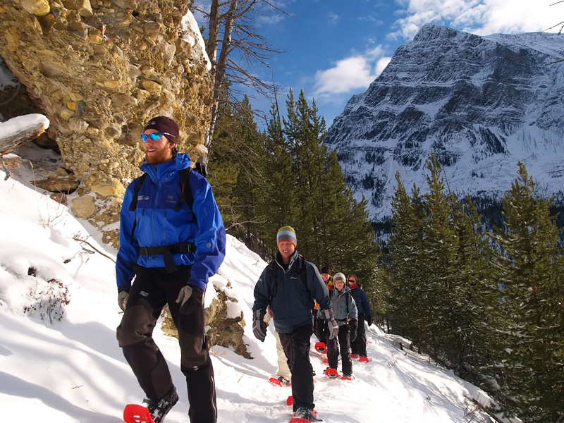 Canadian Rockies Winter Train Vacation | Snowshoeing Banff