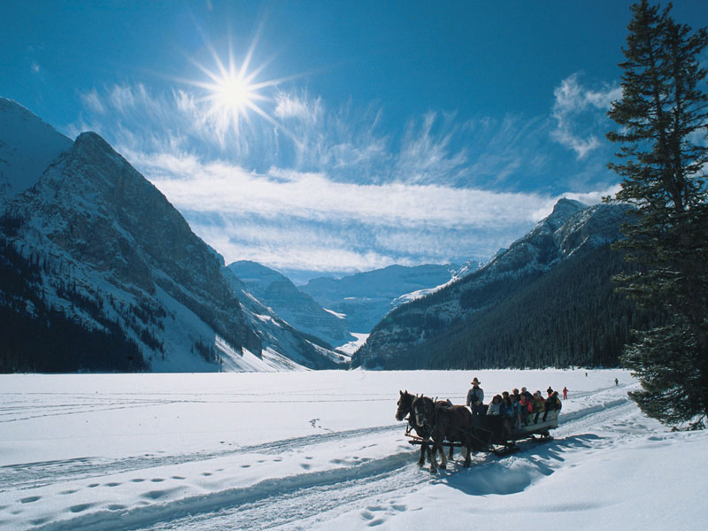 Canadian Rockies Winter Train Vacation | Lake Louise